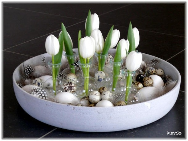 Inspirerend | witte tulpjes altijd leuk
