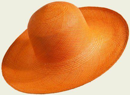 Panama Cloche #hat #hats #womanhats #orange #panama #cloche #clochehat #accessories #arancio