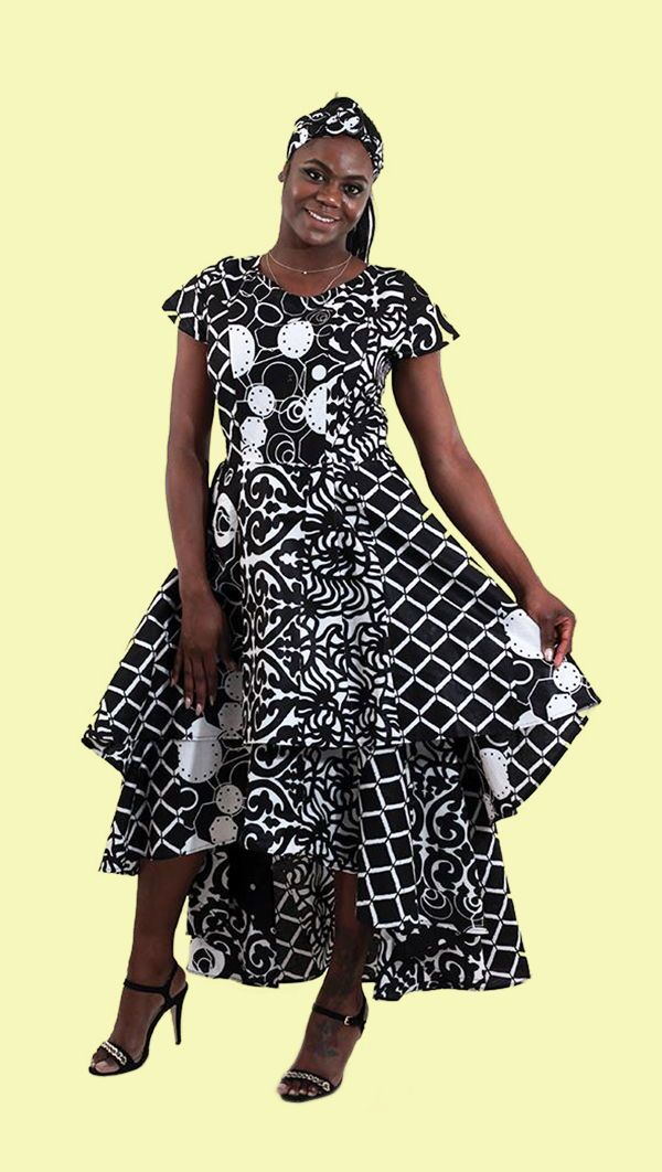 Flare Dress Black White African Print Fashion Dresses African Clothing Styles African Inspired Fashion