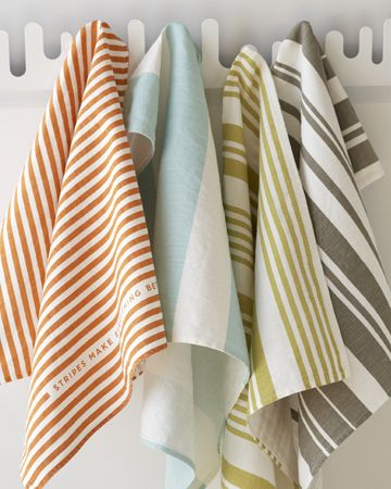 Incorporate patterns into everyday items like towels. Adds a fun element to an otherwise boring item.