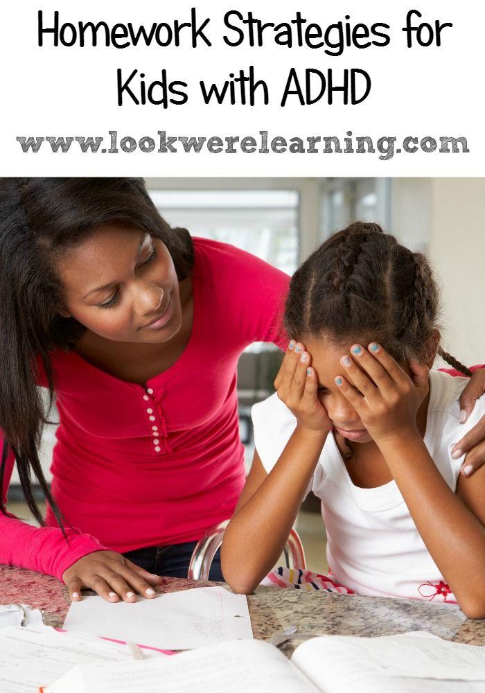 Homework Strategies for ADHD Kids - Look! We're Learning!