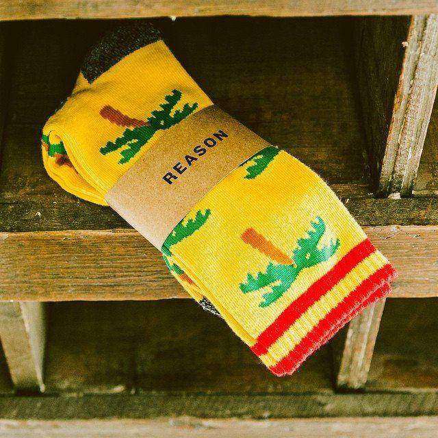 Palm Tree Emoji Socks by Reason Clothing