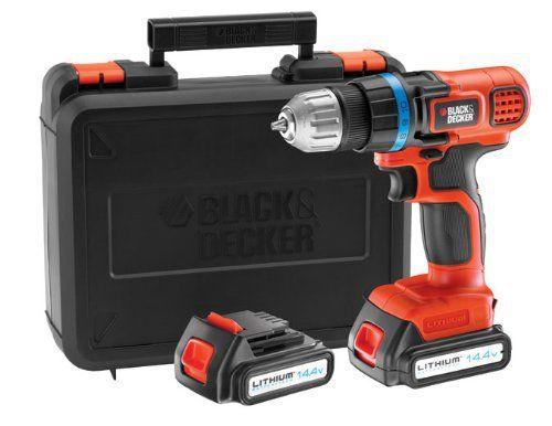 Black + Decker EGBL14KB Perceuse sans fil 14,4 volts Lithium: Price:96.65Perceuse sans fil 2 Batterie 14.4 Volts -Vitesse variable a la…