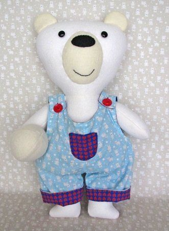 """Bronson Bear"" designed by Fiona Tully for Two Brown Birds."