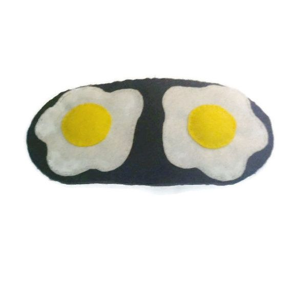 Sleep mask with egg design Fried egg eye mask Food by NipNopsUK