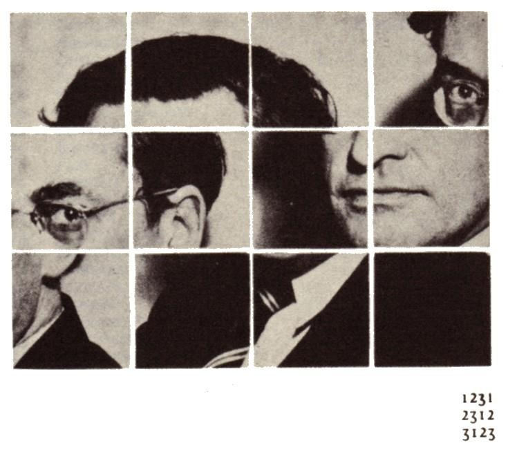 Raymond Queneau cut up photo collage