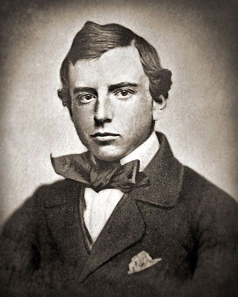 Henry Adams, age 20, 1858  The grandson of John Quincy Adams (and great-grandson of founding father John Adams)
