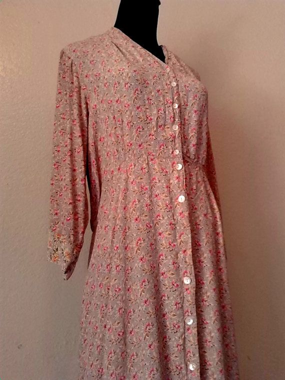 Extra Large Floral 1930's style maxi dress by ...
