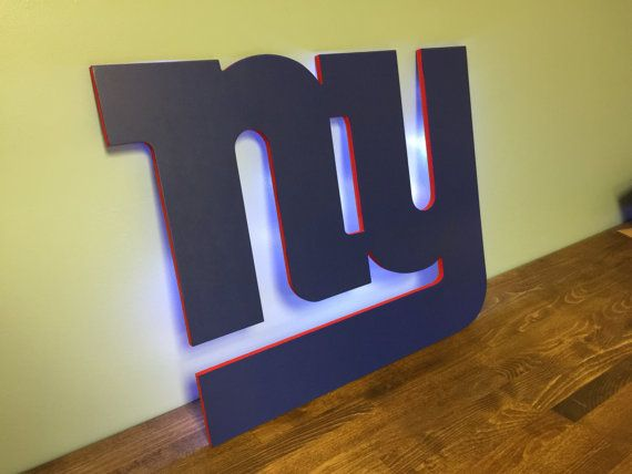 New York Giants Wood Cutout With Optional By Addictedfurnishings