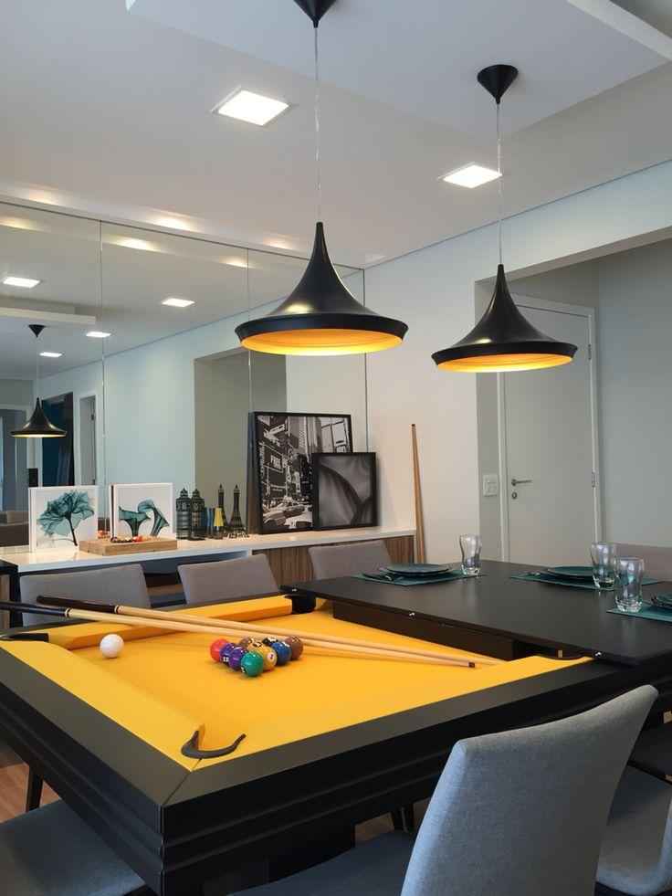 Mesa de jantar/ bilhar nesta sala projeto By Neo Arq SP