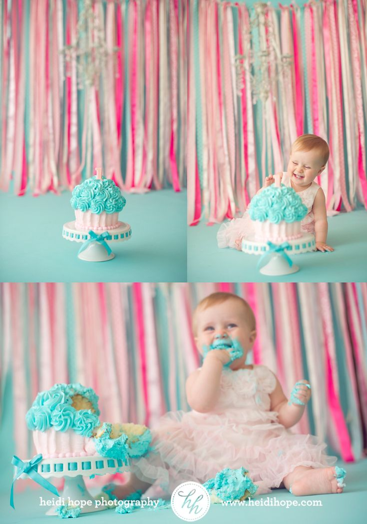 Image result for pink and blue cake smash