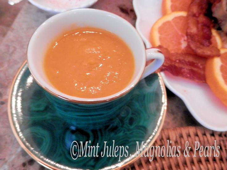 Carrot Squash Soup in Demitasse Cup: