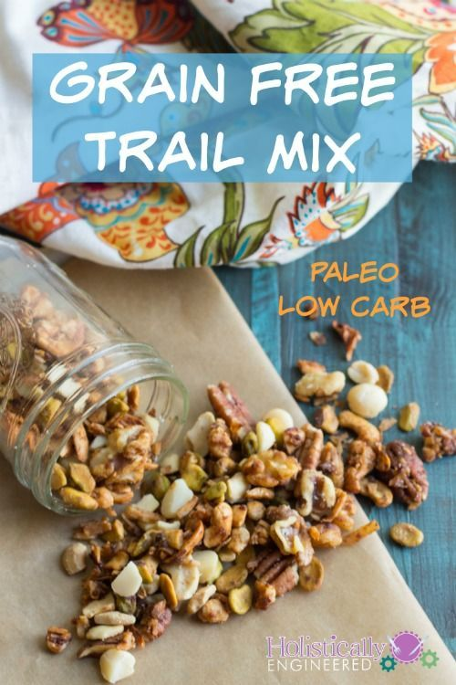 Grain Free Trail Mix Recipe #paleo #lowcarb