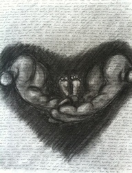 Art inspired by miscarriage and stillbirth.