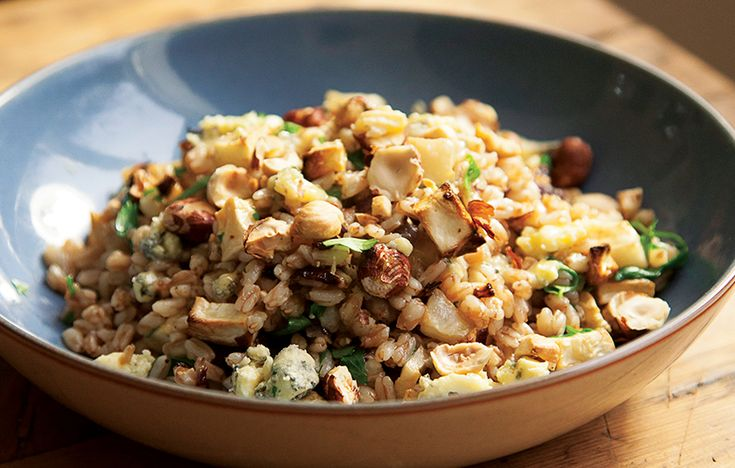 Celeriac, apple and spelt with blue cheese and hazelnuts. Follow link for full recipe from appetite, North East England's dedicated food & drink publication.