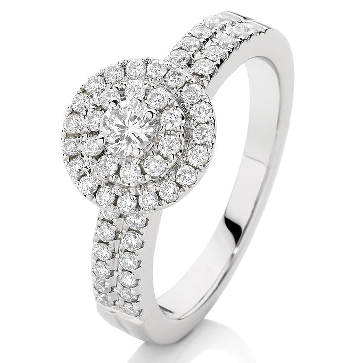 This 9ct white gold Double Halo Diamond Ring features 0.70ct TDW. http://www.showcasejewellers.com.au/double-halo-diamond-ring-sj1682/Y/Y#sthash.EYsQ684S.dpuf