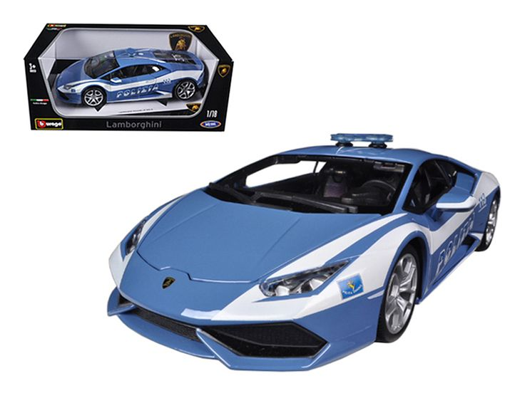 Lamborghini Huracan LP610-4 Police 1/18 Diecast Car Model by Bburago - Brand new 1:18 scale diecast car model of Lamborghini Huracan LP610-4 Police die cast car model by Bburago. Rubber tires. Steerable wheels. Brand new box. Has opening hood, doors and trunk. Detailed interior, exterior, engine compartment. Dimensions approximately L-10.5, W-4, H-3.25 inches. Please note that manufacturer may change packing box at anytime. Product will stay exactly the same.-Weight: 4. Height: 8. Width: 15…