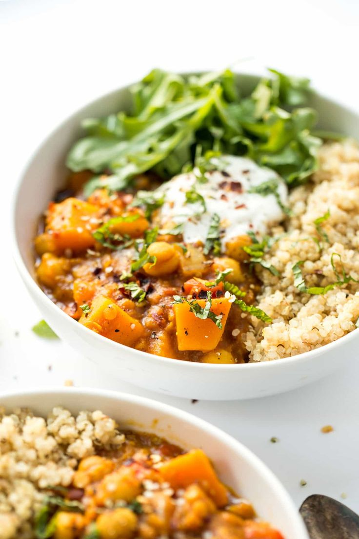 This slow cooker Moroccan Chickpea Stew is filled with tons of vegetables but is hearty and comforting. It's easy to make, is healthy and totally delicious!
