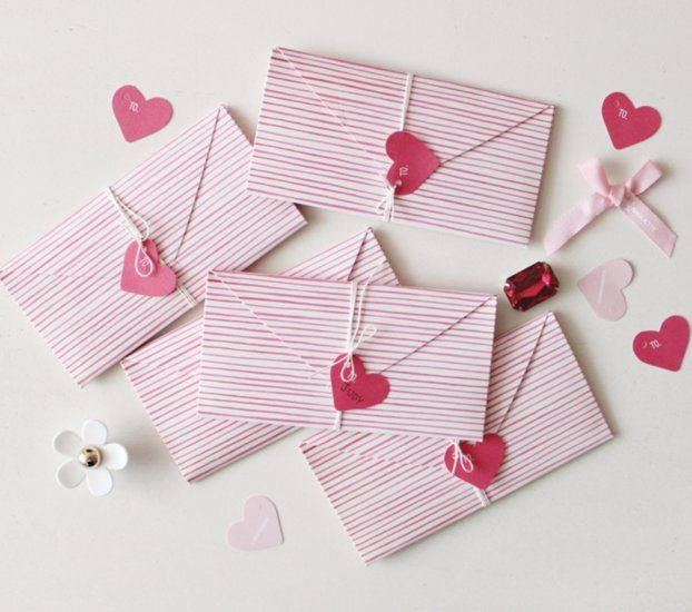 Pink Stripe Love Letter