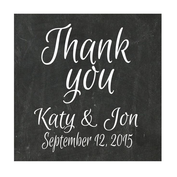 Personalized Stickers, Chalkboard Sticker, Wedding Stickers, Chalk Thank you Sticker, Personalized Stickers Set of 24