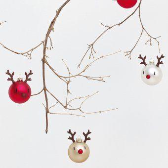 #design3000 2 Rentier-Christbaumkugeln im Set. #baubles #reindeer