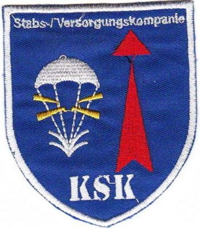 Aufnäher Patch KSK - Stab u. Versorgungs Kompanie / Fallschirmjäger Bundeswehr
