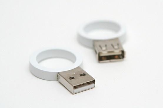 Nerd wedding rings- I ♡these.