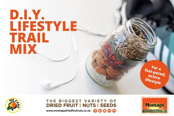 "Kick your healthy, active lifestyle up a gear and power up with nature's goodness!  Try this delicious DIY active lifestyle trail mix for some ""snackspiration"": http://bit.ly/2moutvd  #Snackspiration 