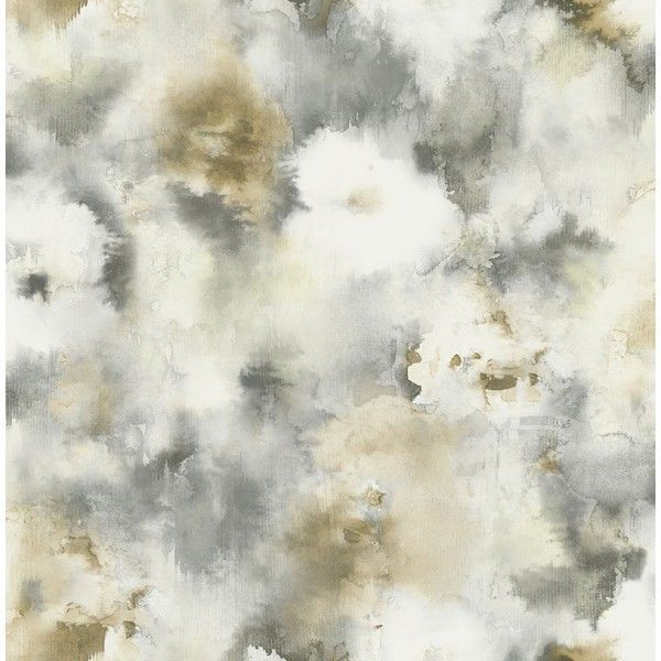 Watercolor Flowers Wallpaper in Browns and Greys from the L'Atelier de... ($52) ❤ liked on Polyvore featuring home, home decor, wallpaper, wallpaper samples, grey flower wallpaper, grey home decor, inspirational home decor, parisian home decor and paris wallpaper