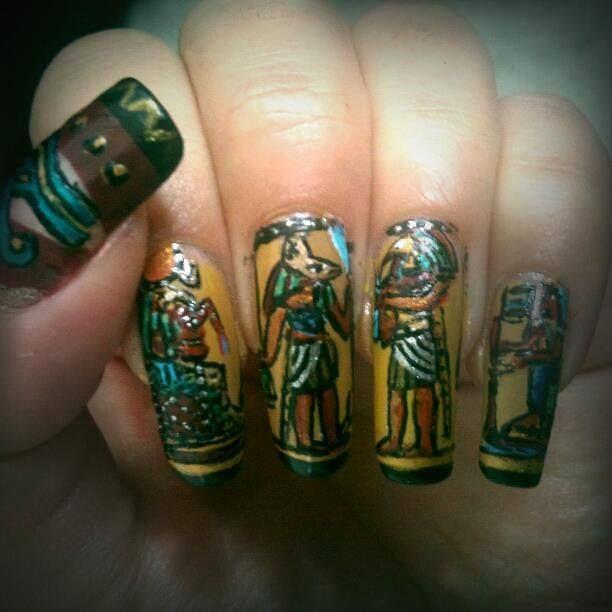 Egyptian nail art - 69 Best Egyptian Nails... Images On Pinterest Egyptian Nails