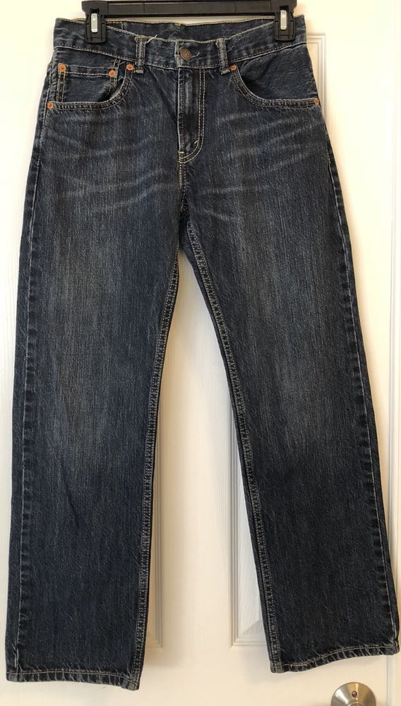 Levi Strauss & Co Jeans Size 16 28x28 505 Mens Straight Dark Blue Wash Cotton #Levis #ClassicStraightLeg #DressyEverydayHoliday