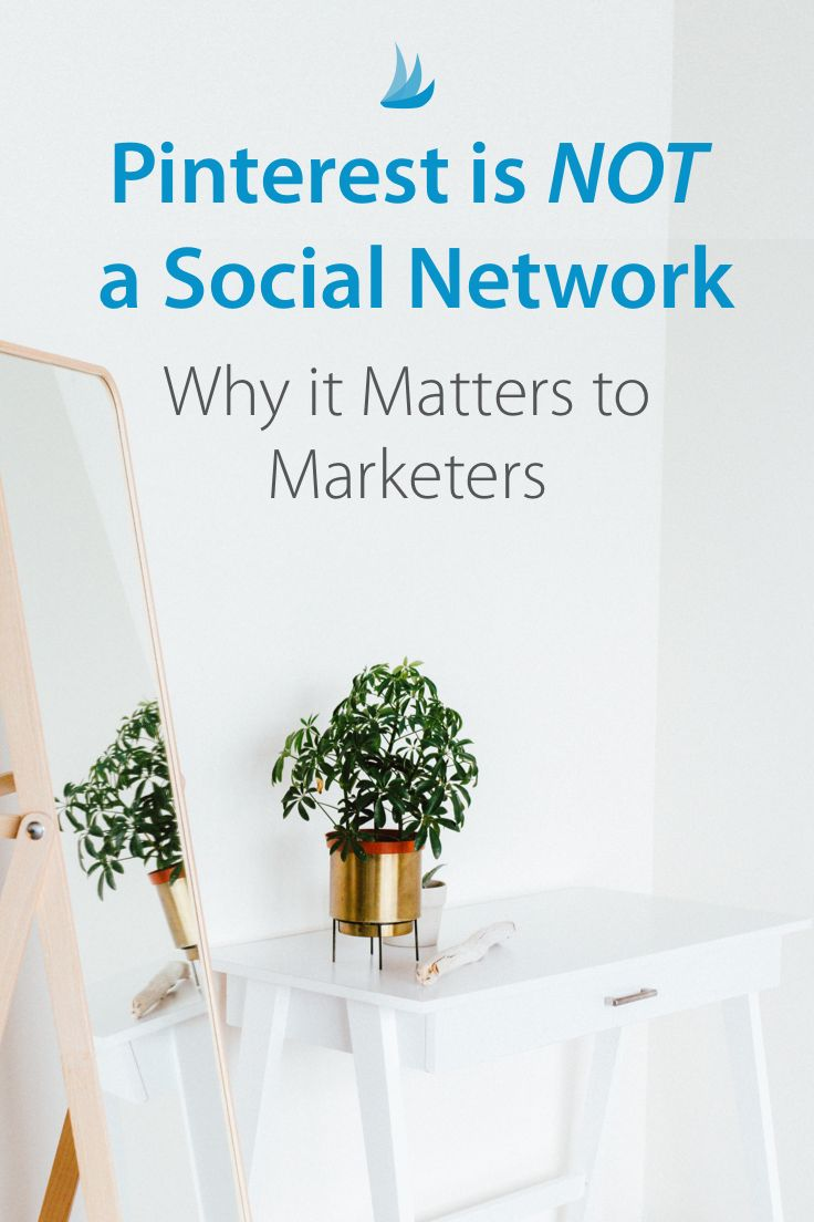 Pinterest is not a social network - why this matters to marketers. #pintereststrategy #pinterestmarketing #pinterestips