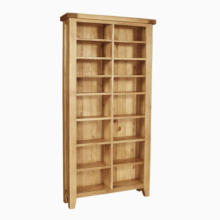 Elegance Solid Oak Cd/Dvd Storage Unit (Sizes Medium/Large)