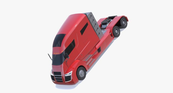 3d model nikola semi-trailer truck