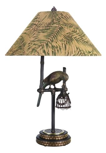 Nice Polly By Night Tropical Lamp 65261 With Bird Design By Frederick Cooper. Tropical  Table Lamps