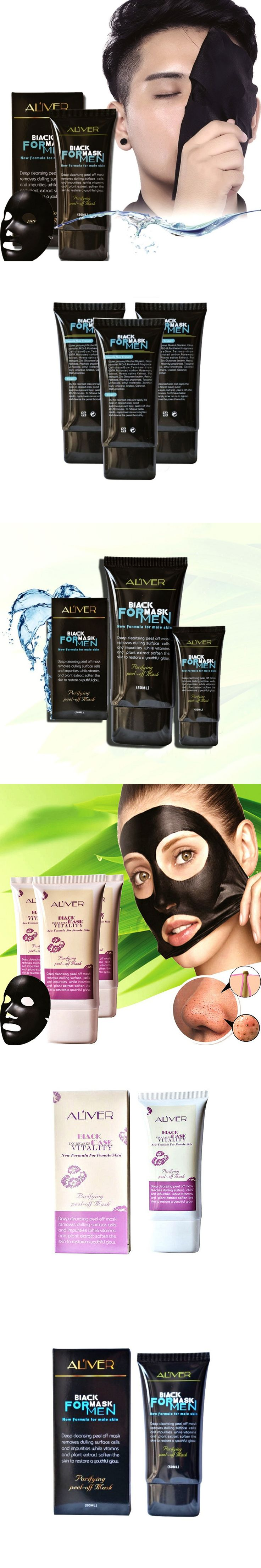Purifying Blackhead Remover Peel-Off Facial Cleaning Black Face Mask for men women