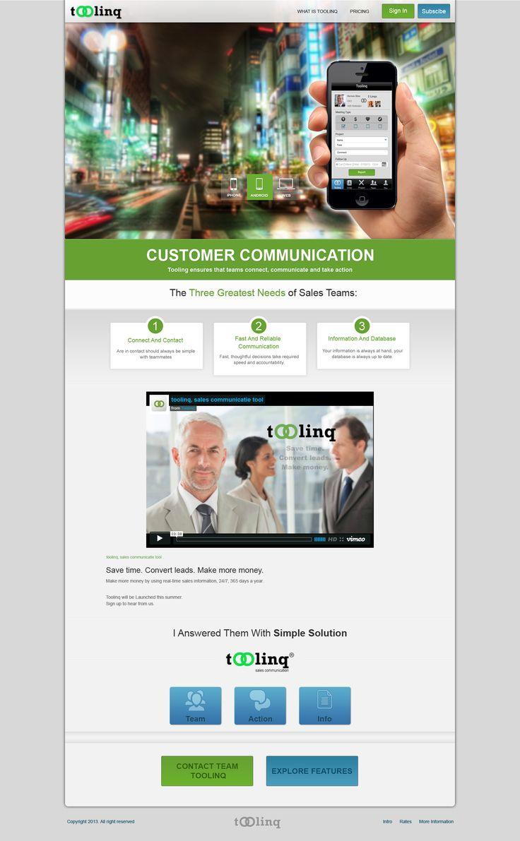 Toolinq Home page design http://www.toolinq.com
