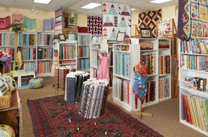What was once part of a former bowling alley has blossomed into an eclectic quilt shop and exhibition gallery.