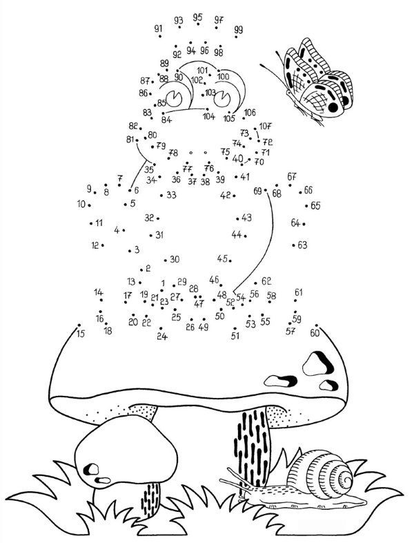 Dibujo De Unir Puntos De Rana Y Champinon Dibujo Para Colorear E Imprimir Conectar Los Puntos Dibujos De Puntos Juego De Puntos