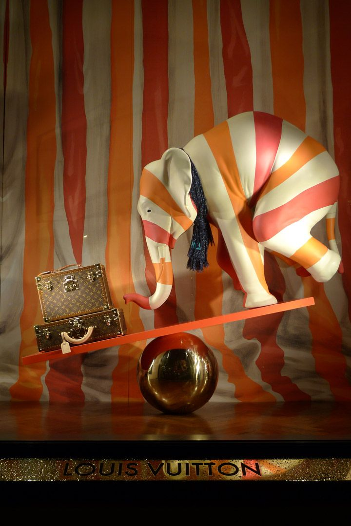 I Love this Display!  If only I had an elephant this would be in the window at Design Avenue!
