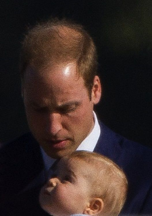 There is something wonderful about this pic. Prince William and Prince George