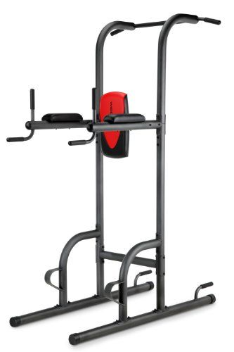 Weider Power Tower... Push-ups, triceps dip station, pull ups, & vertical knee raises all in one!!!