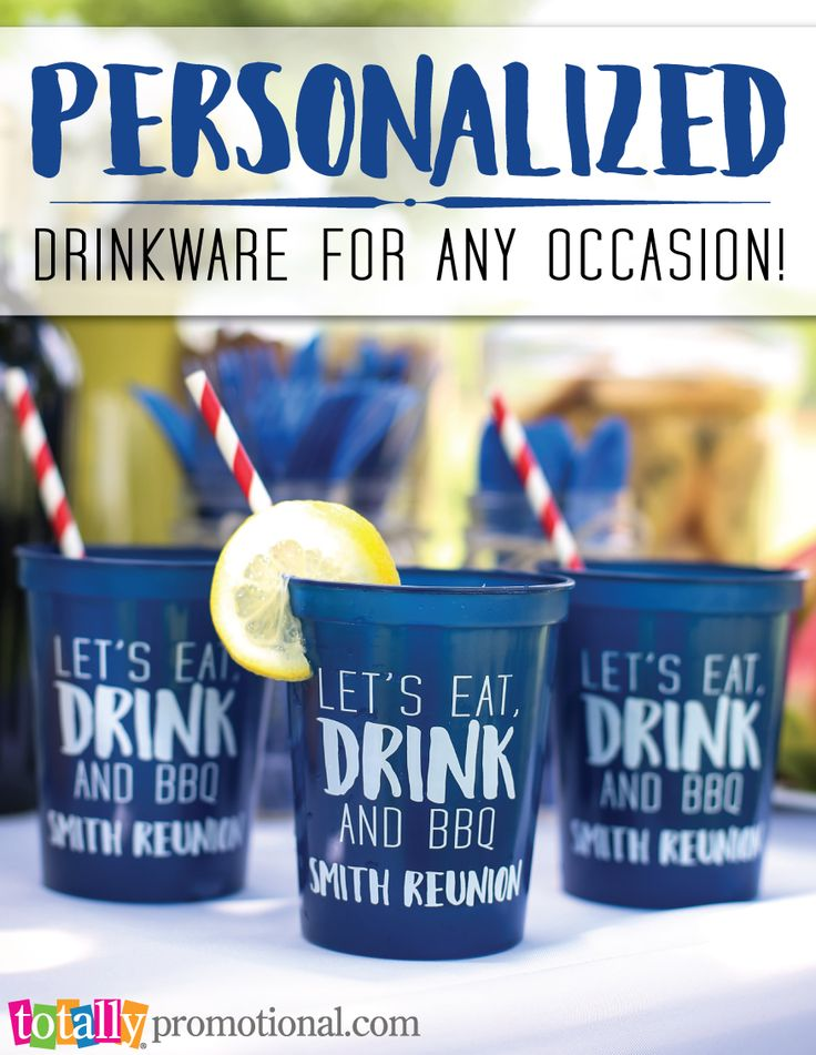 Create your own personalized #drinkware for any occasion!  Our variety of cup styles and sizes can all be custom printed with your logo, message or event information!  Low prices, free artwork proof and quick turn around time!  Add matching lids or straws to complete your look!  Use coupon code PINNER10 and receive 10% off your drinkware order! Sale applies to piece price only, not valid with other coupon codes and expires 4.4.17!
