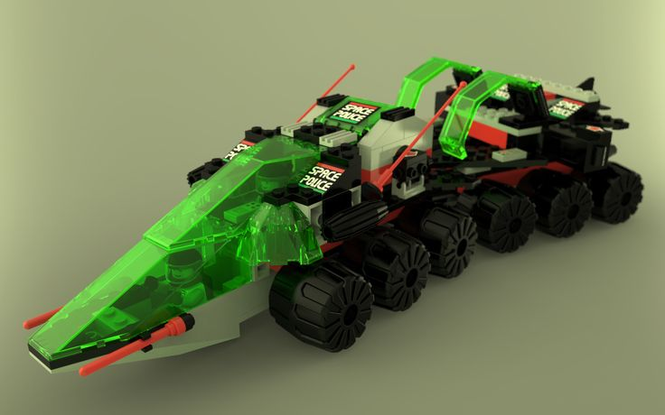 LEGO Space Police II Solar Snooper rendered in KeyShot