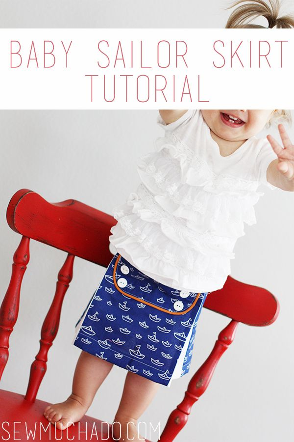 Baby Skirt Tutorial - sew an adorable sailor skirt for your little one!