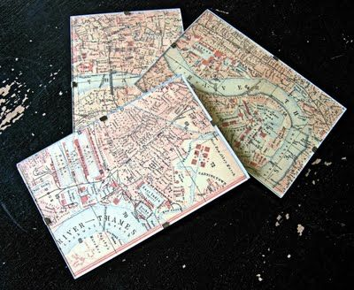 The Graphics Fairy LLC: Craft Project - London Map Decor - DIY