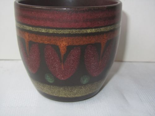 Vintage West German KMK Manuell Studio Art Pottery Planter Bowl Pot