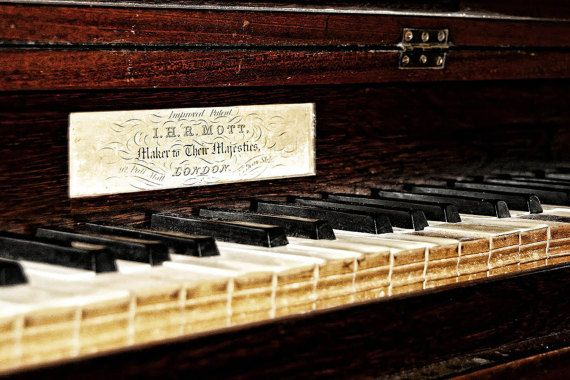 Old Piano London.  This was photographed by me on a field trip and will make a great colourful addition to your collection.  Instant Download