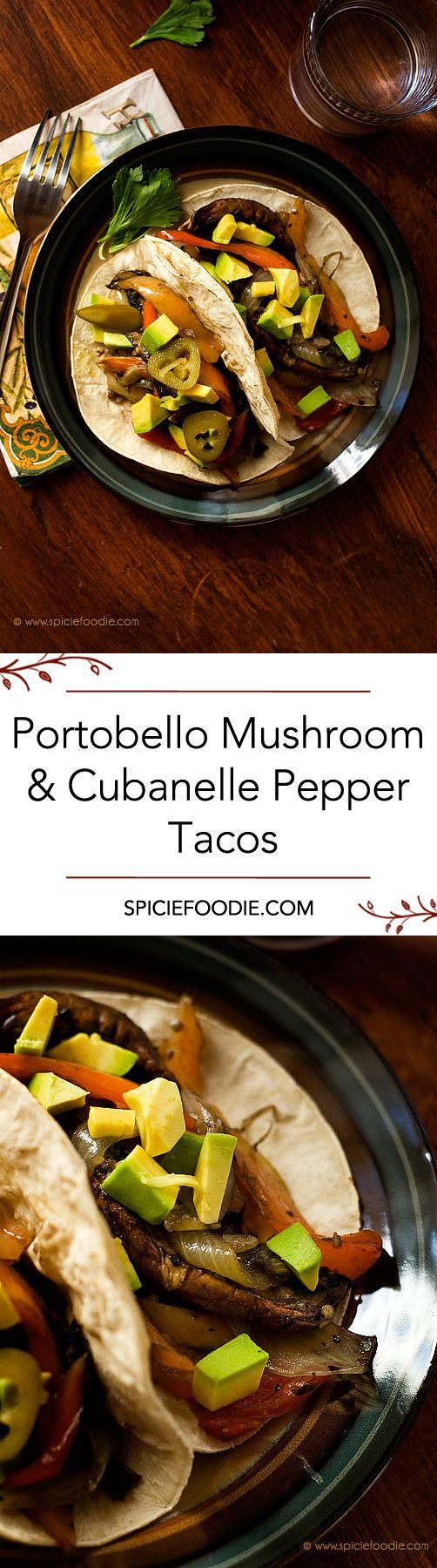 Portobello Mushroom and Cubanelle Pepper Tacos Recipe | #tacos #vegan |#meatlessmonday Sounds interesting!!!!