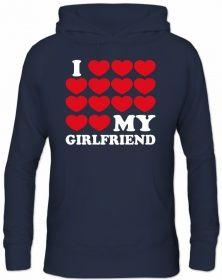Herren Kapuzen SweatshirtI LOVE MY GIRLFRIEND